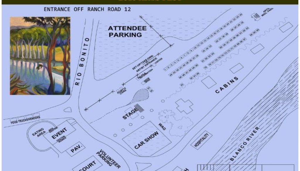 Layout of Booths for Wimberley Arts Fest